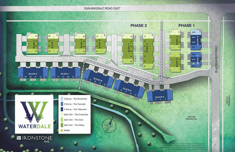 Image of Waterdale New Homes London Ontario - Site Plan