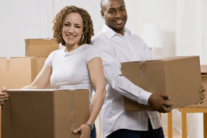 Photo of Couple Moving