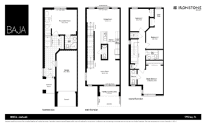 BOCA Model - Town Home Floorplan London Ontario
