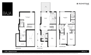 LUNA Model - BAJA Town Home Floorplan London Ontario