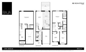 LUNA Model - BAJA Town Home Floorplan London Ontario