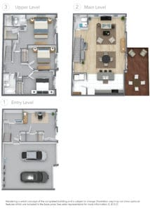 AZUL Townhome 3d Floor Plan