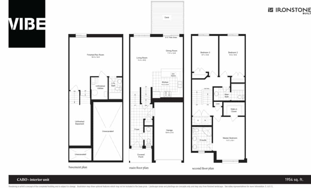 VIBE CABO Interior Floor Plan Drawing