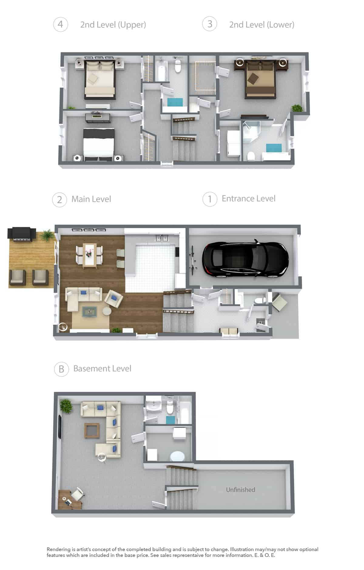 CABO Townhome Floor Plan