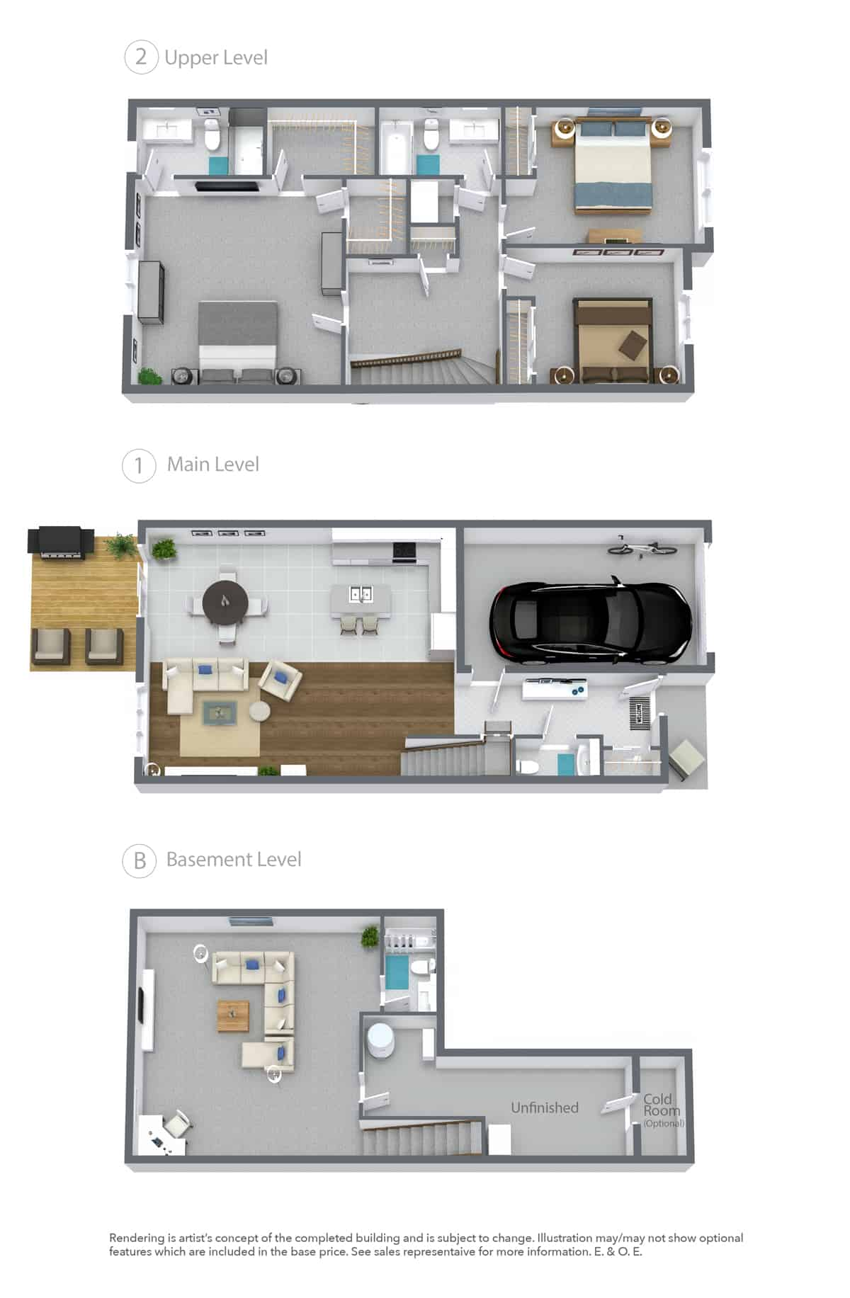 LUNA Townhome Floor Plan