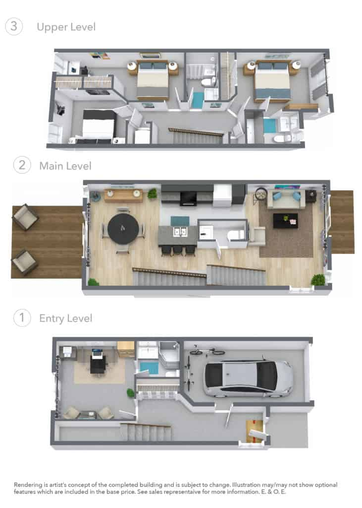 BOCA End Floor Plan