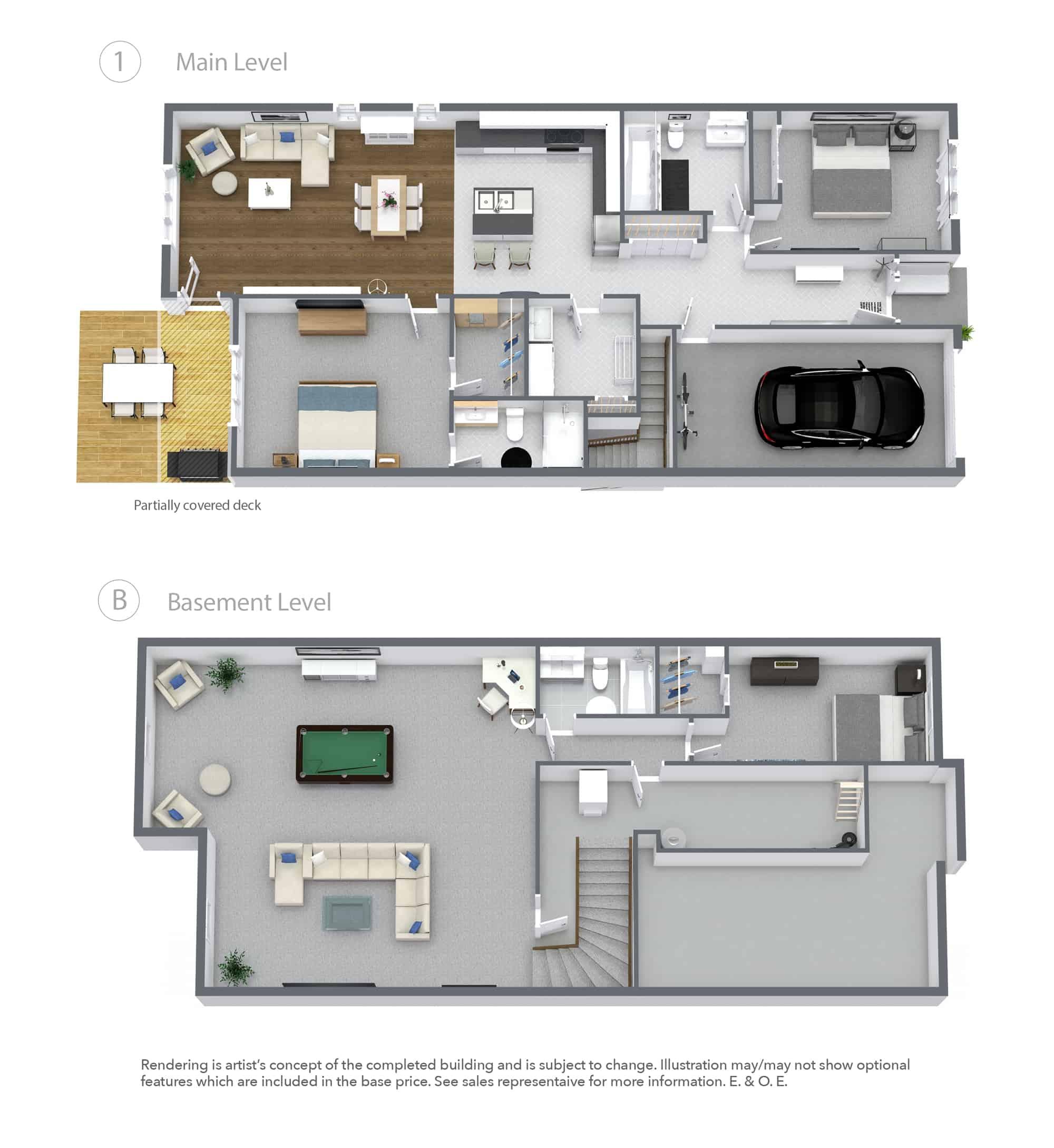 Fairfield Bungalow New Town Home Floor Plan
